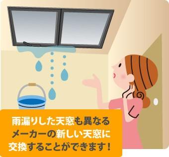 天窓の交換はメーカーが違っても可能です。