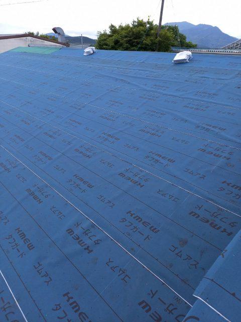 岐阜市にて瓦屋根より金属屋根への屋根葺き替え工事