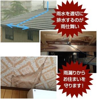 瓦やスレートは屋根材の間に隙間が設けられています