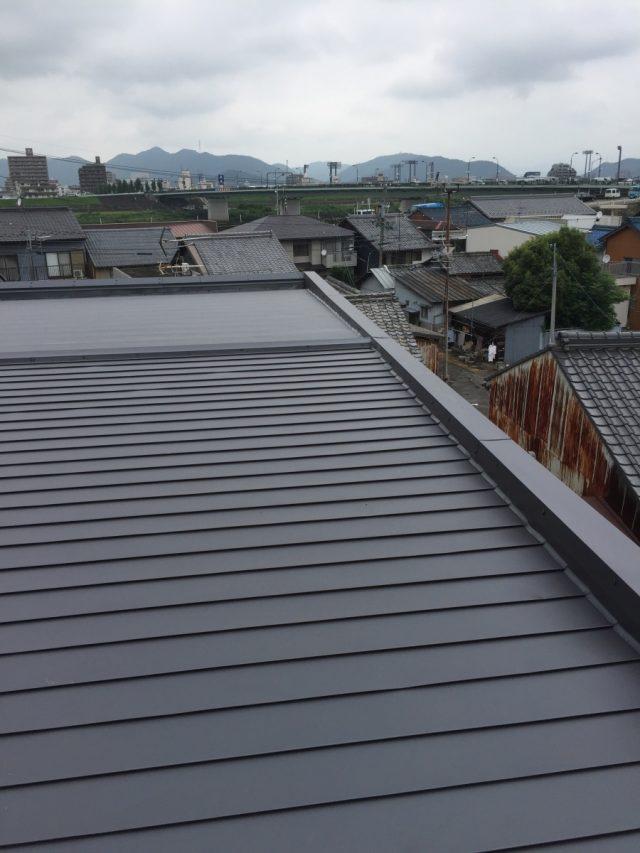 屋根ガルバリウム鋼板貼り 全体仕上がり