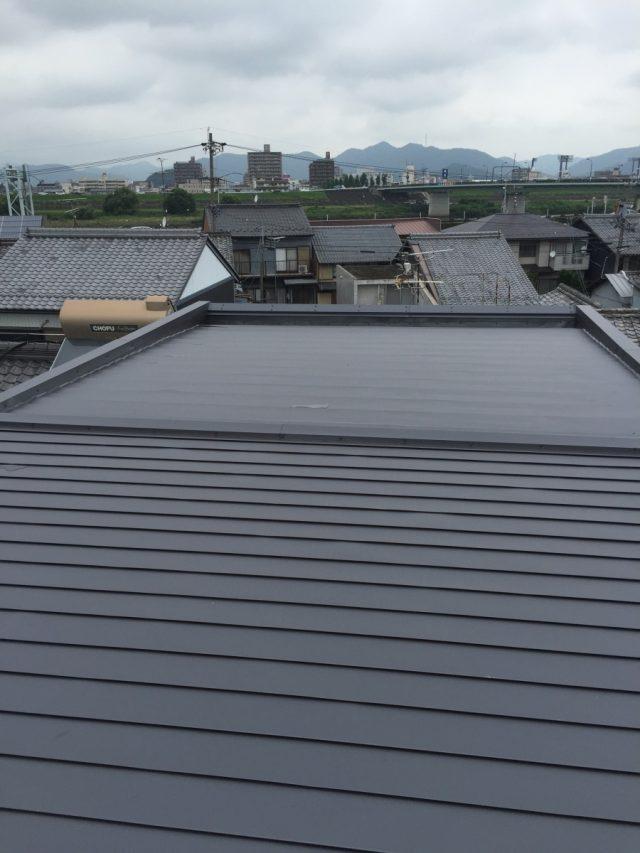 屋根ガルバリウム鋼板 全体仕上がり