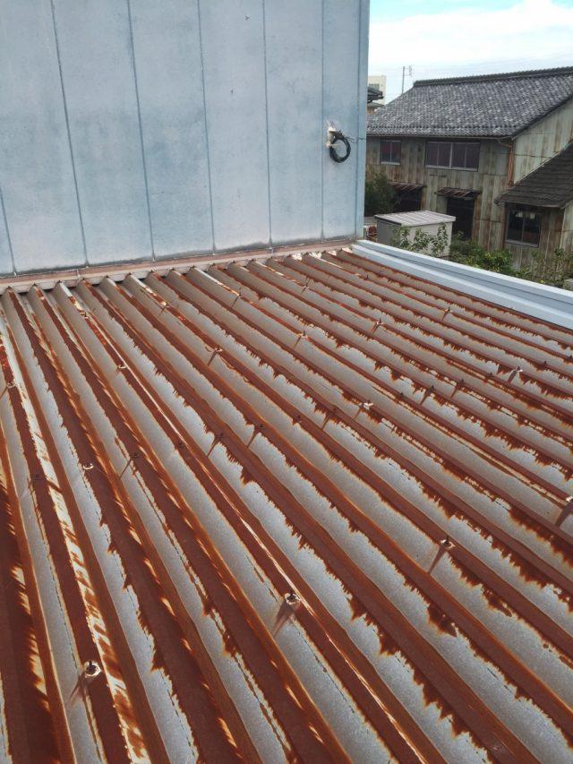 折板屋根の現場調査