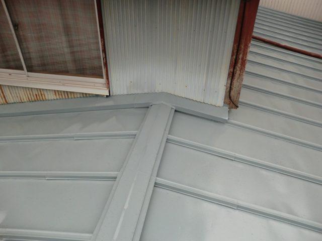 瓦棒塗装 施工後