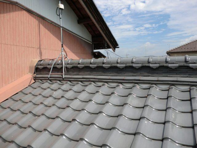 屋根漆喰工事写真