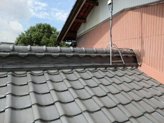 屋根漆喰工事