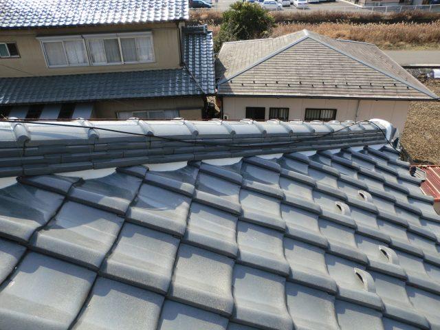 屋根の漆喰完成