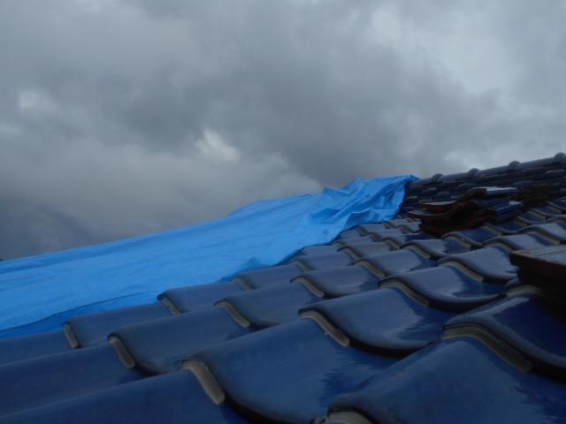 台風屋根瓦災害