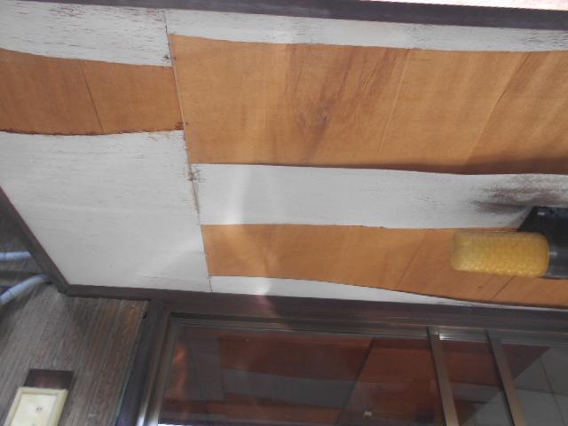 岐阜市にて軒天の一部が強風により飛散してしまいました。無料点検調査実施