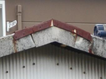 小波スレート屋根現場調査
