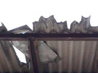 大波スレート屋根現場調査