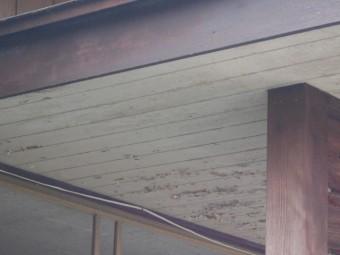 玄関屋根現場調査