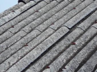 波形スレート屋根調査