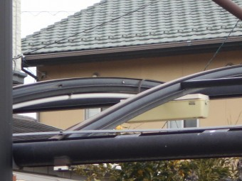 カーポートの屋根調査