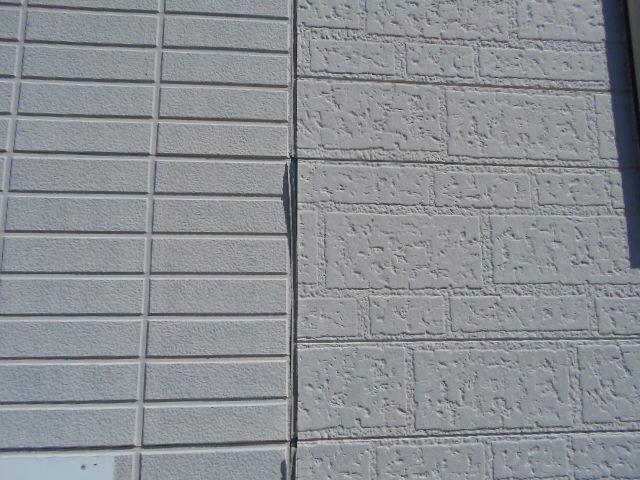 大垣市 外壁窯業系サイディングボードの表面の塗膜が剥がれています。目地のコーキングが切れています。外装調査