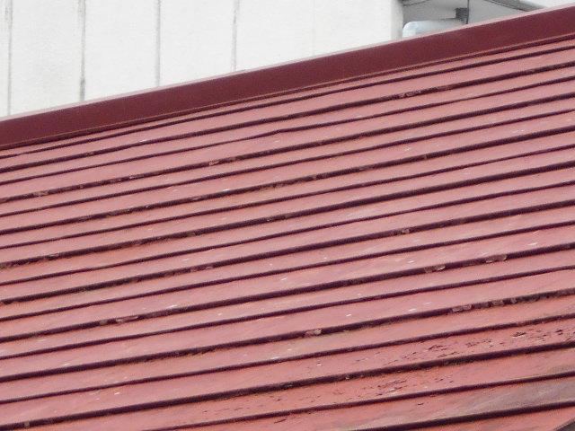 大垣市 カラートタン横葺き屋根が錆び錆です。塗装メンテナンスかカバー工法か