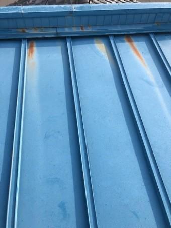 瓦棒板金屋根の塗装劣化のさび