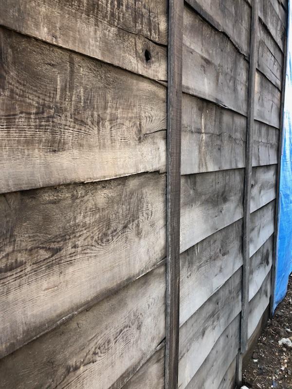 羽目板外壁の防水切れ