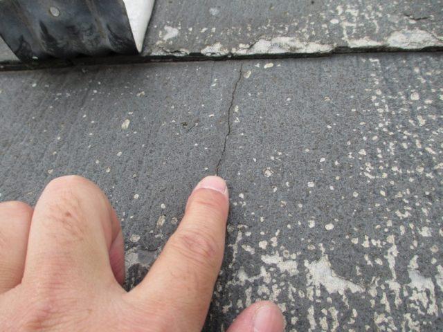 パミール屋根ひび割れ