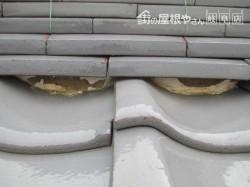 屋根の漆喰工事前