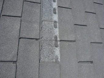 アスファルトシングル屋根材のめくれ